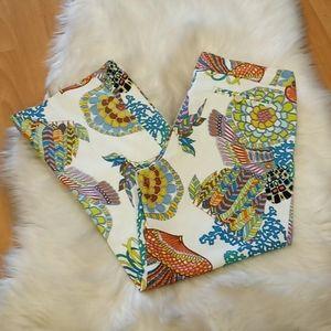Trina Turk Printed Cotton Capri Pants